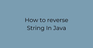 How to reverse String In Java