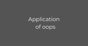application of oops